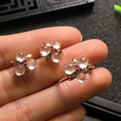 耳钉戒指套装  尺寸12.0*5.3/5.0*3.6mm