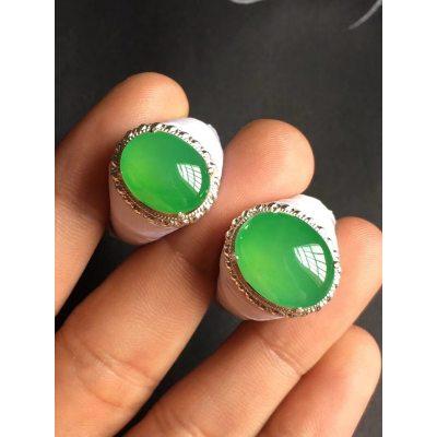 高冰阳绿 翡翠戒指 尺寸15.6*12.3*4.5