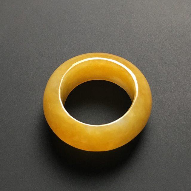 【糯种黄翡翡翠指环】图5